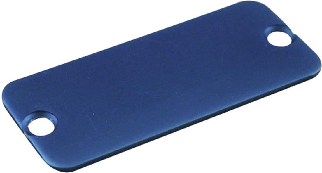 Koncový panel pouzdra Hammond Electronics 1455KALBU-10, modrá
