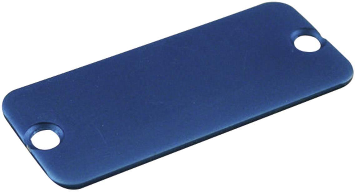 Koncový panel pouzdra Hammond Electronics 1455LALBU-10, modrá