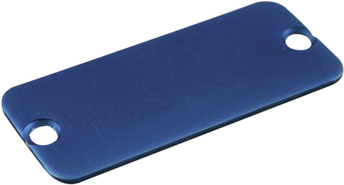 Koncový panel pouzdra Hammond Electronics 1455NALBU-10, modrá