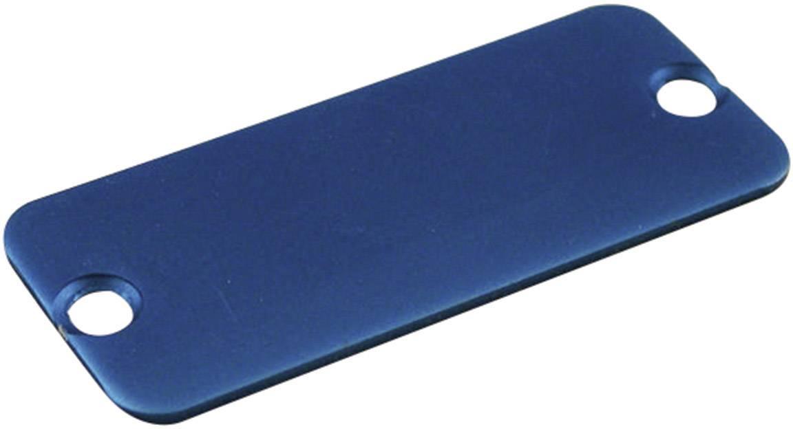 Koncový panel pouzdra Hammond Electronics 1455QALBU-10, modrá