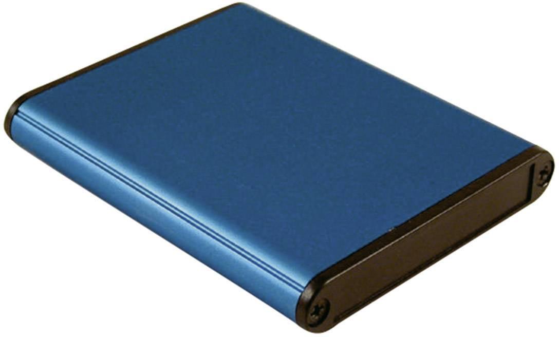 Univerzálne púzdro Hammond Electronics 1455A802BU 1455A802BU, 80 x 70 x 12 , hliník, modrá, 1 ks