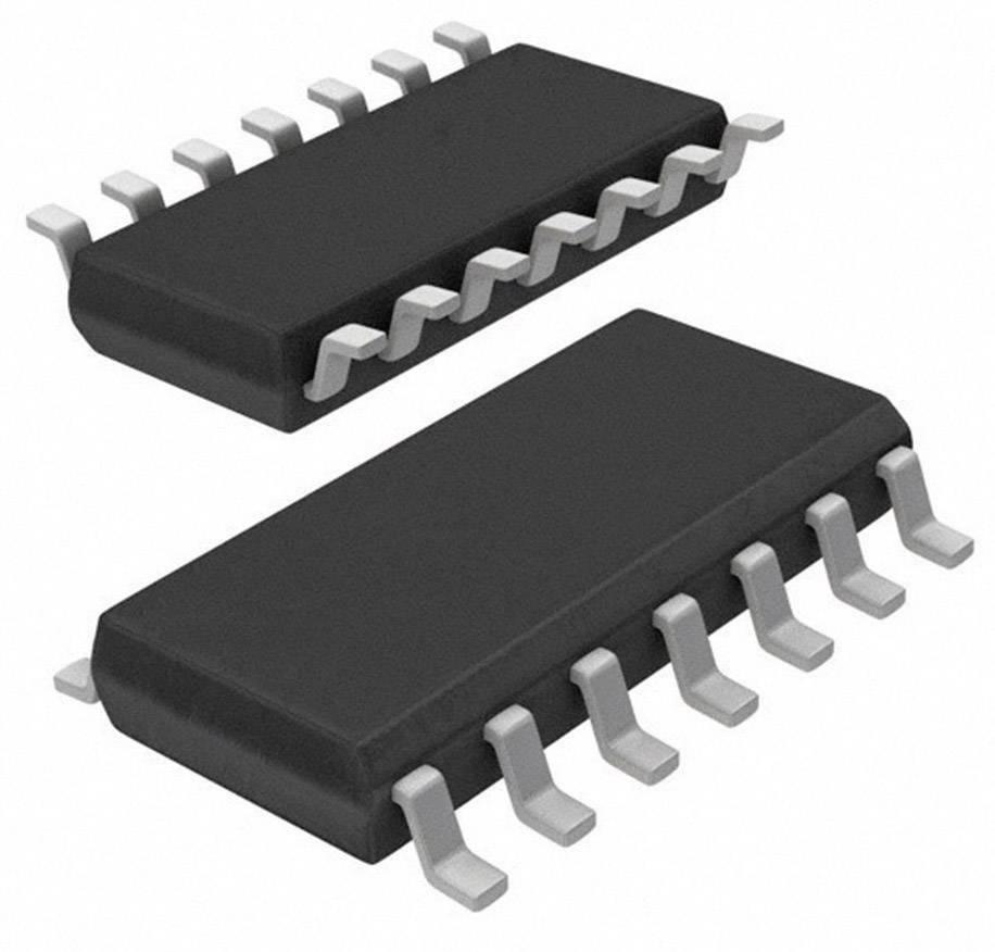 IO analógový spínač Texas Instruments CD74HC4066PWR, 2 V - 10 V, odpor (stav ZAP.)2.3 Ohm, TID