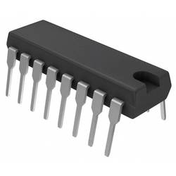 Logický IO - čítač CD74HCT390E, čítač BCD, desetinné místo, 74HCT, záporná hrana, 27 MHz, 5.5 VPDIP-16