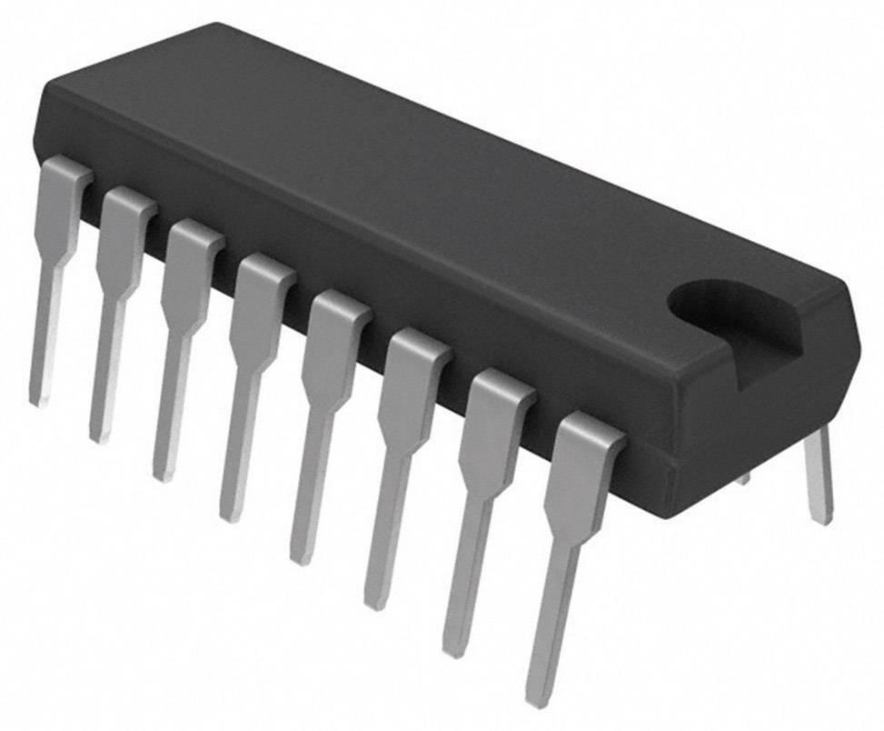 Logický IO - klopný obvod Texas Instruments SN74HC175N, master reset, diferenciální, DIP-16