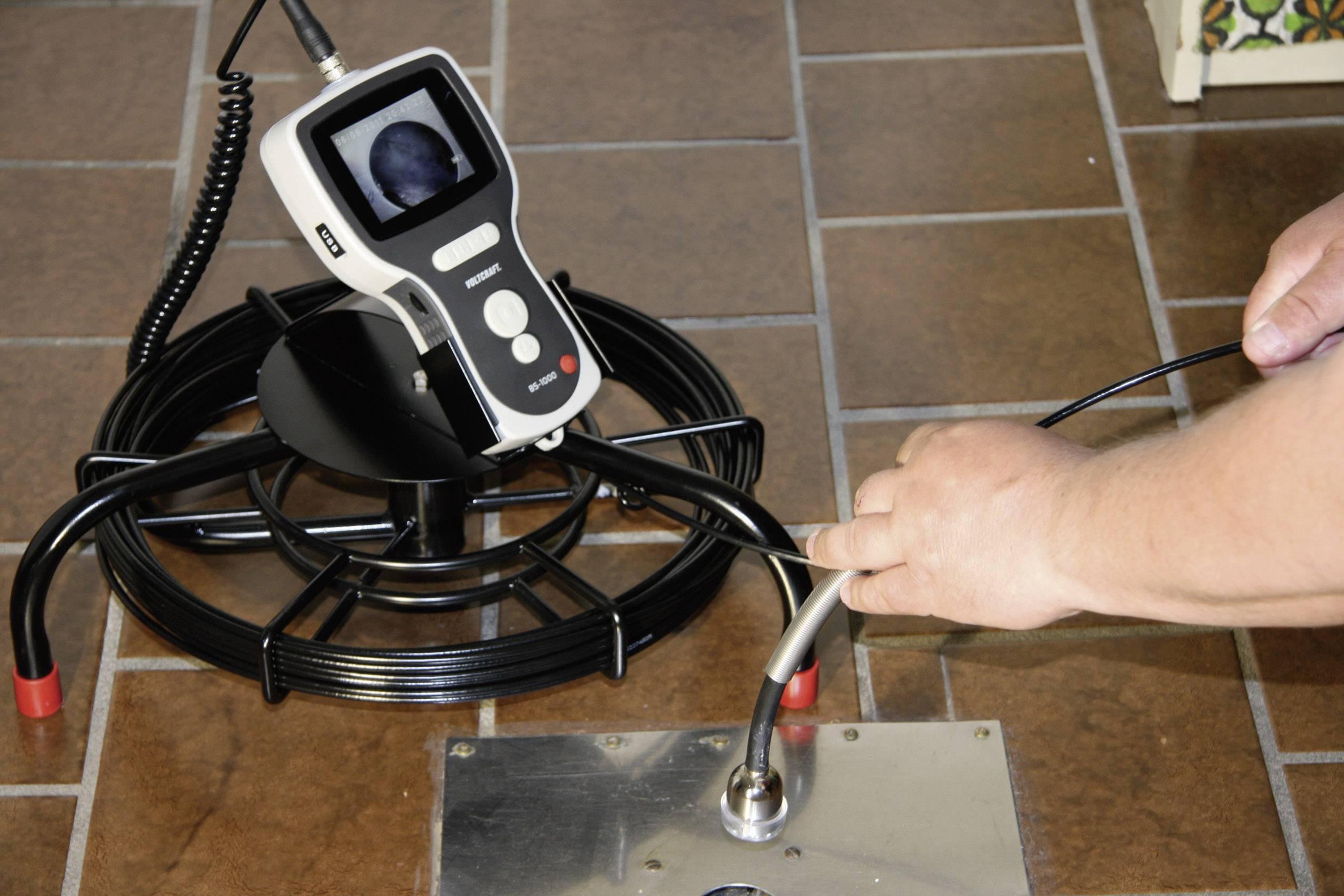 Flexibilná inšpekčná kamera pre endoskop Voltcraft BS-1000T, 25 m