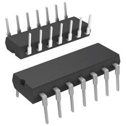 Logické IO - spínač signálu Texas Instruments CD4016BE, dvoustranný spínač FET, dvojité napájení, PDIP-14