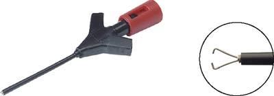 Miniatúrna meracia svorka Hirschmann Micro-KLEPS, červená
