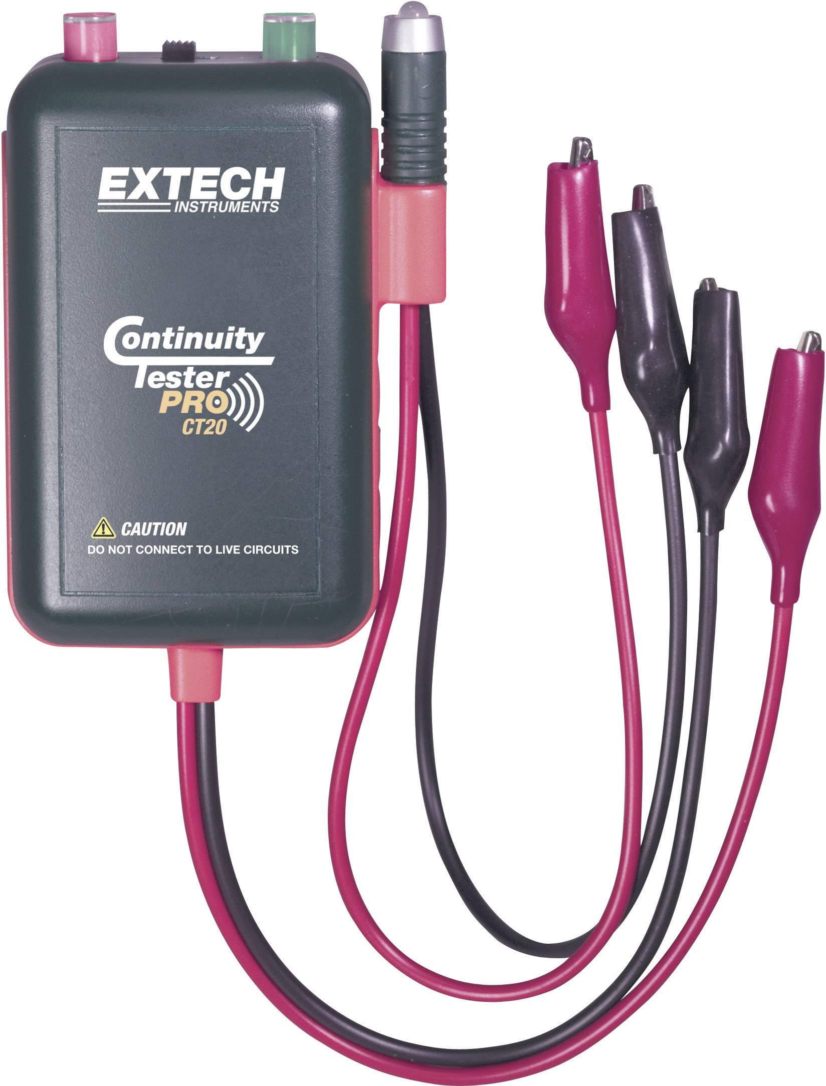 Profesionální zkoušečka průchodnosti kabelů Extech CT-20