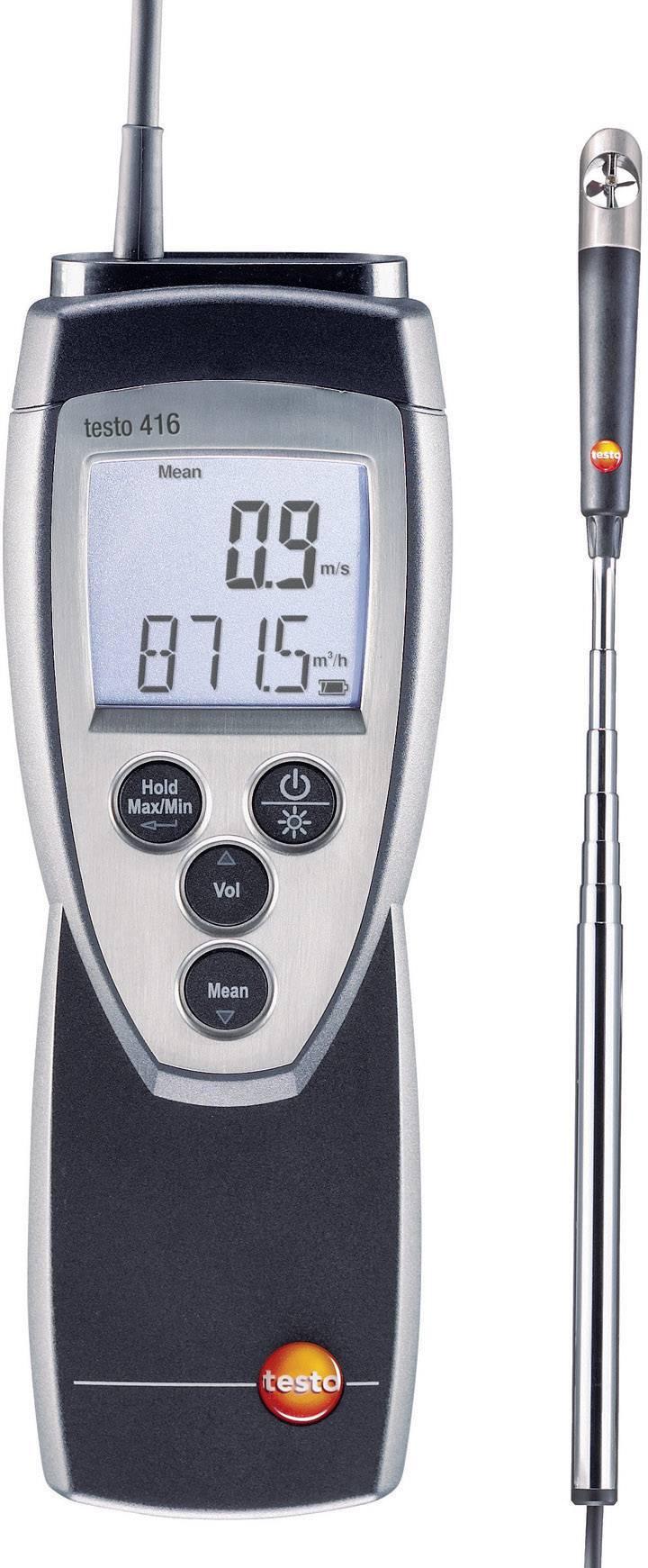 Anemometr s větrníkem testo 416, kalibrováno dle ISO