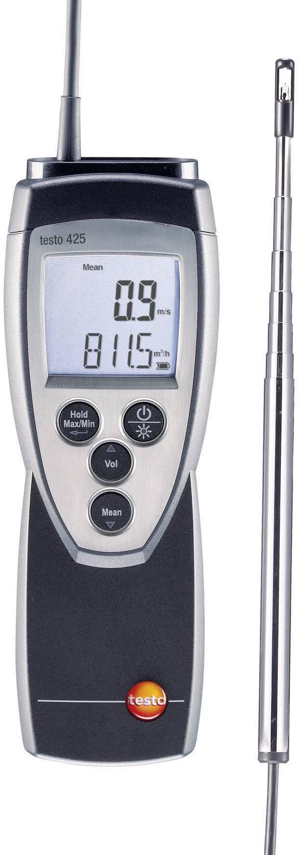 Tepelný anemometr testo 425, kalibrováno dle ISO
