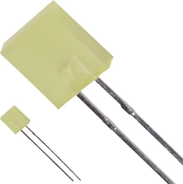 LED s vývody LUMEX SSL-LX25783YD, typ čočky hranatý, 7 x 2.3 mm, 110 °, 30 mA, 4 mcd, 2.1 V, žlutá