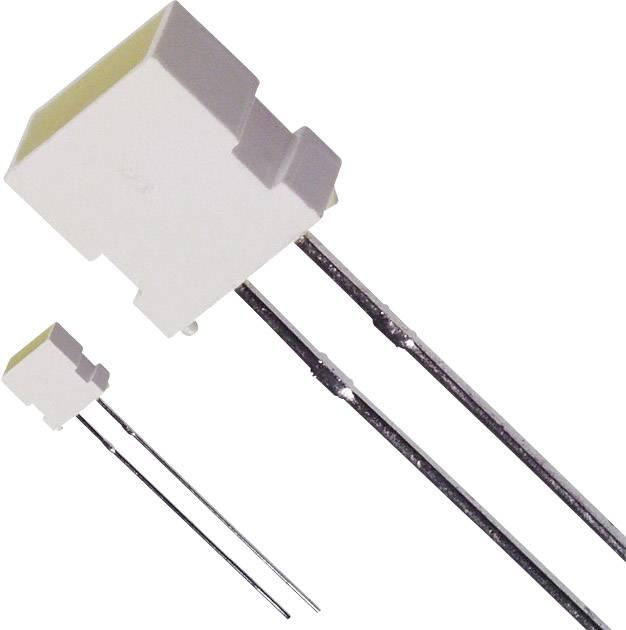 LED s vývody LUMEX SSL-LX4673YD-LA20, typ čočky hranatý, 3.65 x 6.15 mm, 100 °, 30 mA, 6 mcd, 2.1 V, žlutá