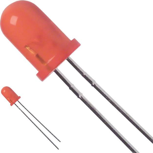 LED s vývody LUMEX SSL-LX5093AD, typ čočky kulatý, 5 mm, 60 °, 30 mA, 30 mcd, 2 V, jantarová