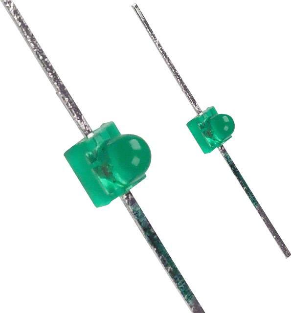 LED s vývody LUMEX SSL-LXA228GD, typ čočky kulatý, 1.9 mm, 25 °, 12 mcd, 2.1 V, zelená