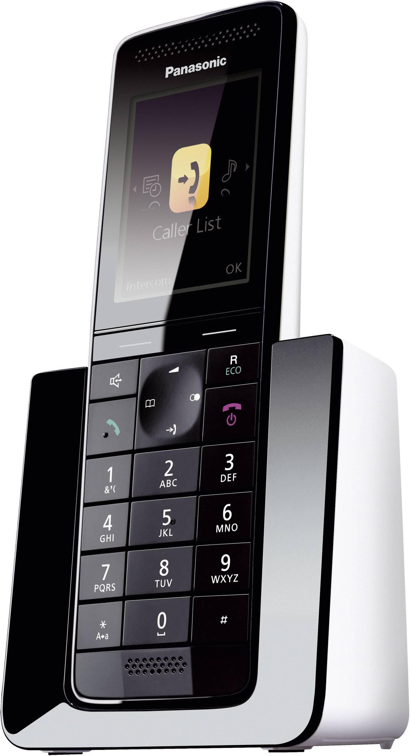 Bezdrôtový analógový telefón Panasonic KX-PRS120, čierna, biela
