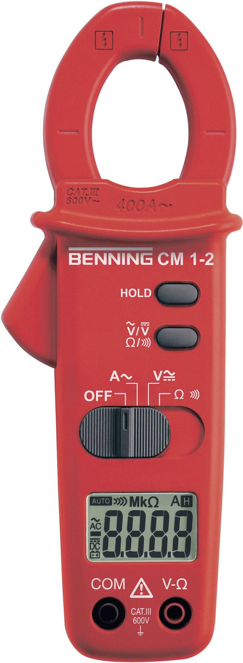 Klešťový ampérmetr Benning CM 1-2, 0,1 Ω - 20 MΩ