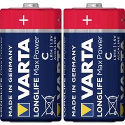 Baterie malé mono C alkalicko-manganová Varta Longlife Max Power LR14 7800 mAh 1.5 V 2 ks