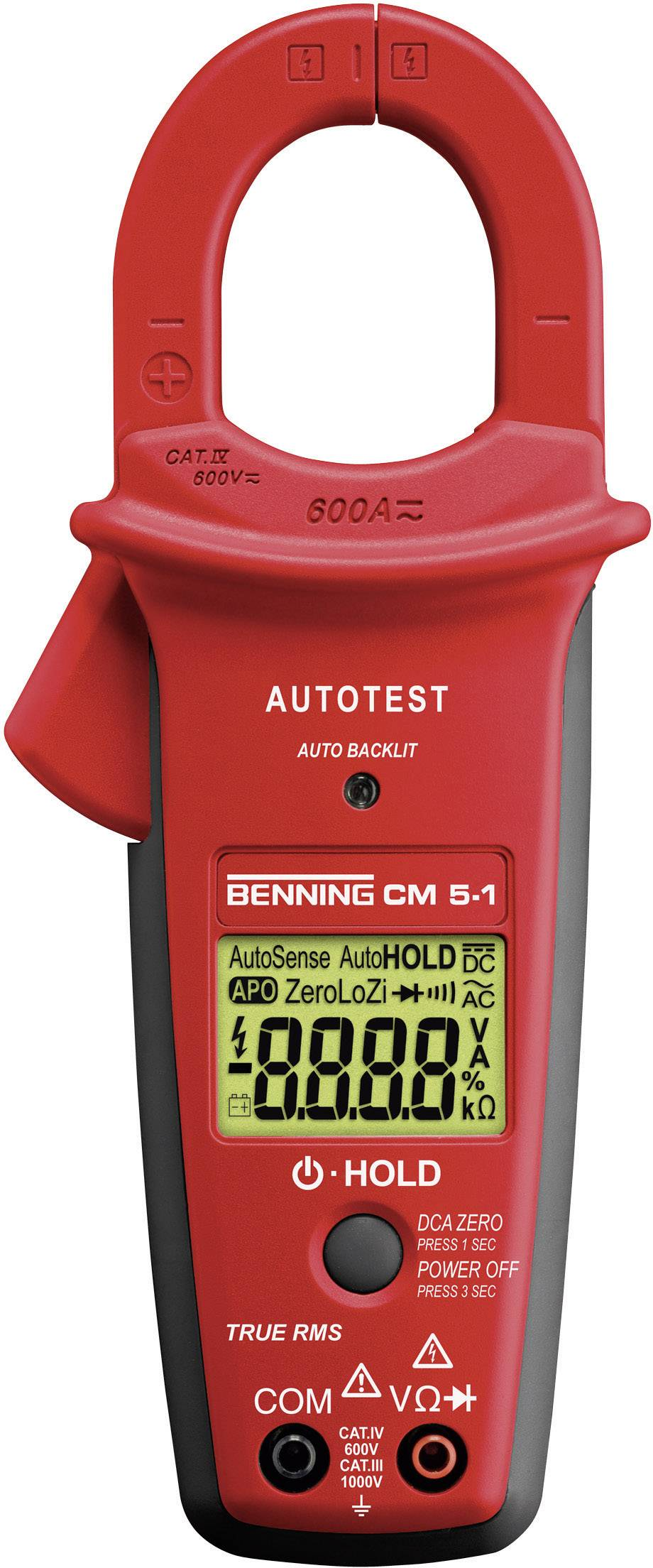 Digitální proudové kleště, multimetr Benning CM 5-1, Kalibrováno dle ISO