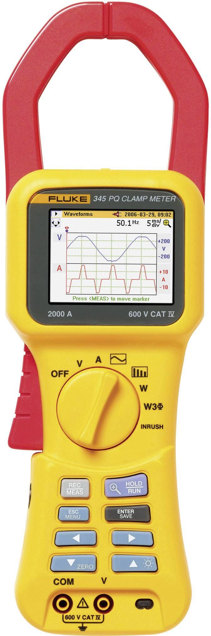 Síťový analyzátor Fluke 345 Fluke 345 Kalibrováno dle ISO