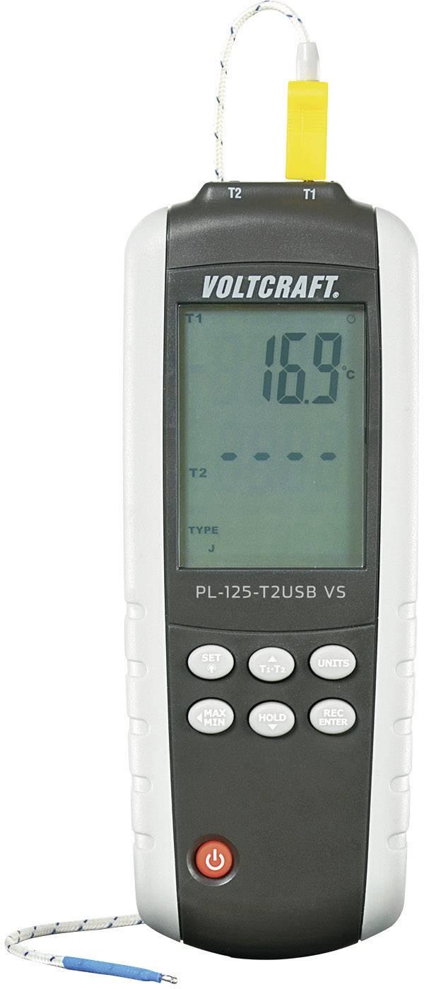 Digitálny teplomer Voltcraft PL-125-T2, 2kanálový