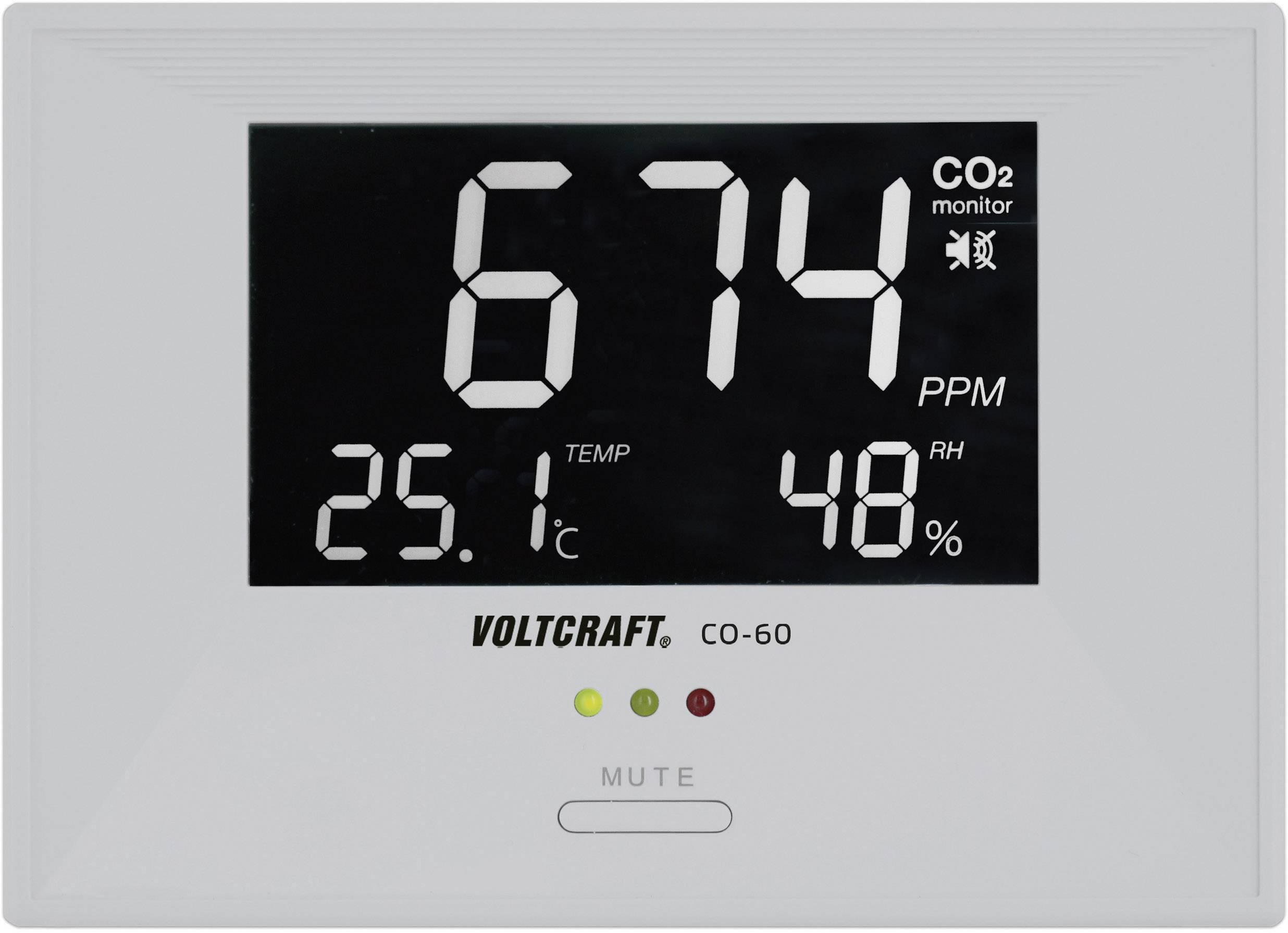 Merač oxidu uhličitého (CO2) VOLTCRAFT CO-60 SE VC-8464270, 0 - 3000 ppm