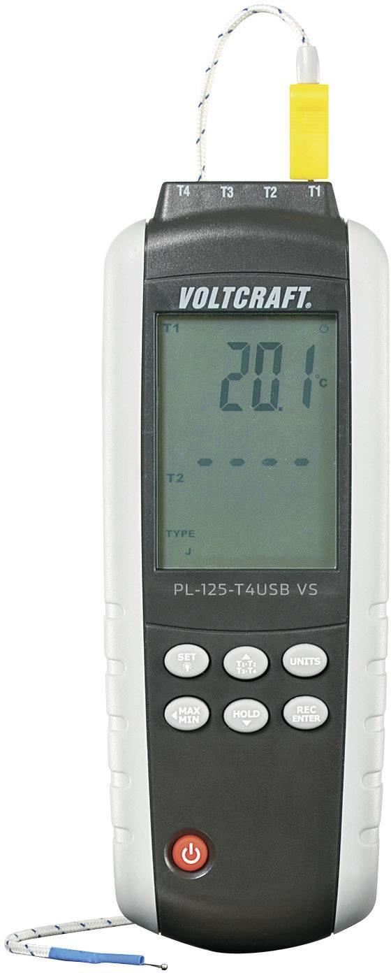 Digitálny teplomer Voltcraft PL-125-T4, 4 kanálový
