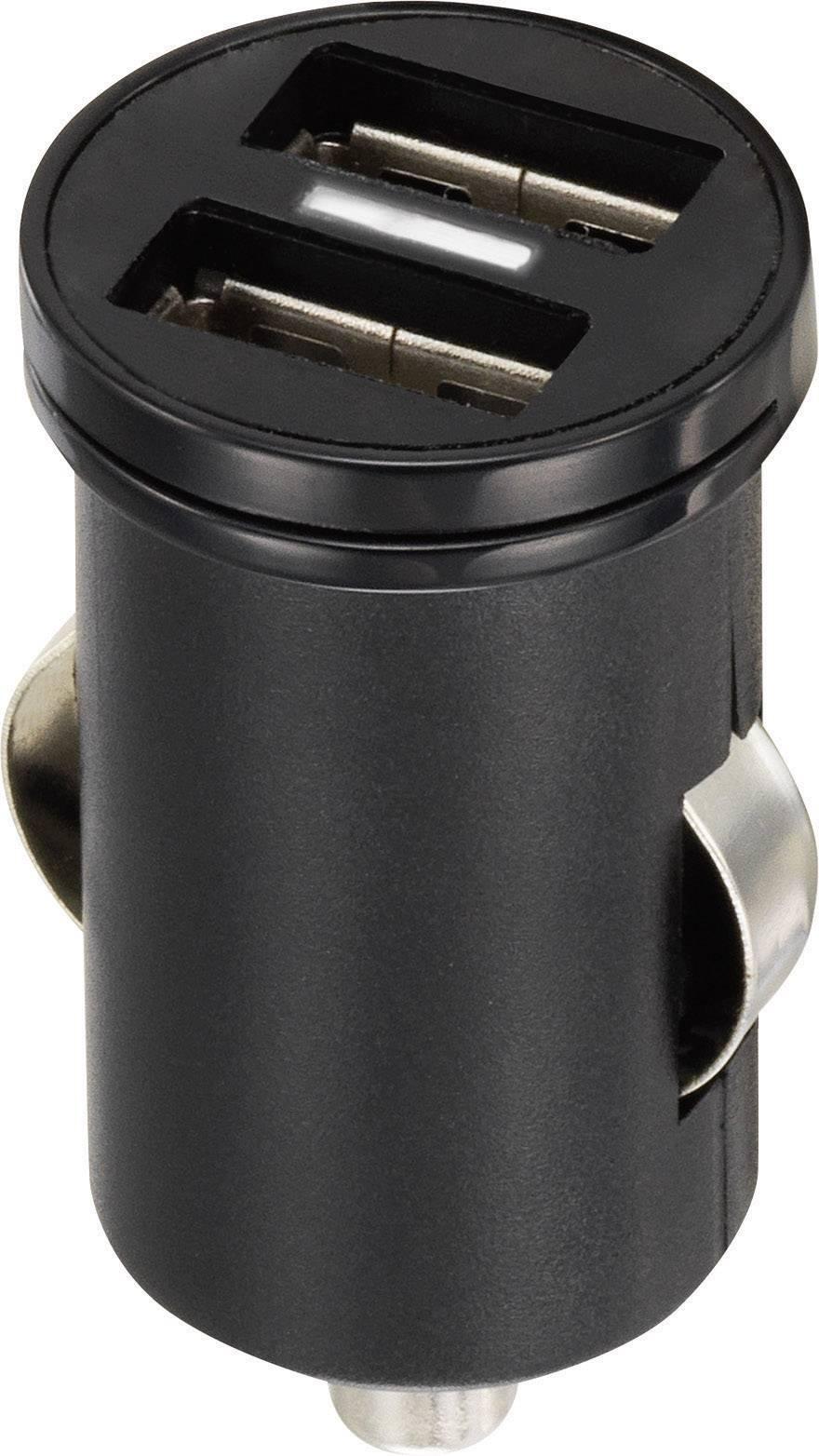 USB napájecí zdroj do autozásuvky Voltcraft CPS-2400/2, 2x 1200 mA