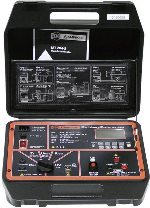 Revizní přístroje Beha Amprobe 9085 DIN VDE 0411-1, IEC/EN61010-1, DIN VDE 0413/EN 61557 část 2, 3, 4 Kalibrováno dle ISO