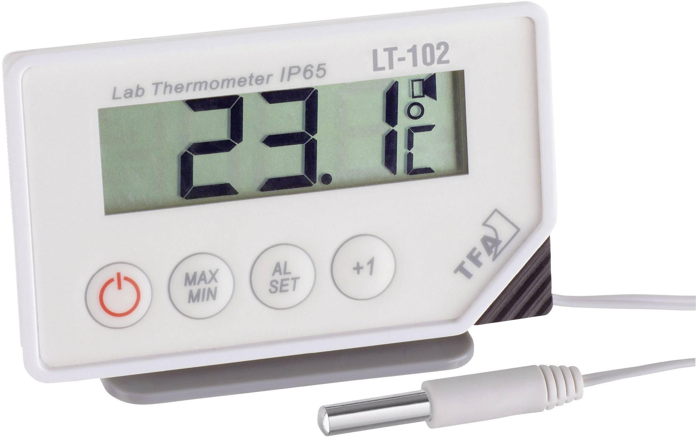 Ponorný laboratorní teploměr TFA LT-102, -40 až +70 °C, typ senzoru NTC