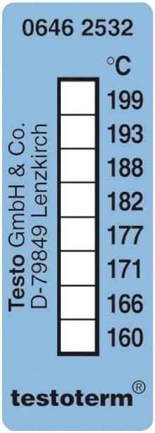 Meracie prúžky testo testoterm, +161 až +204 °C