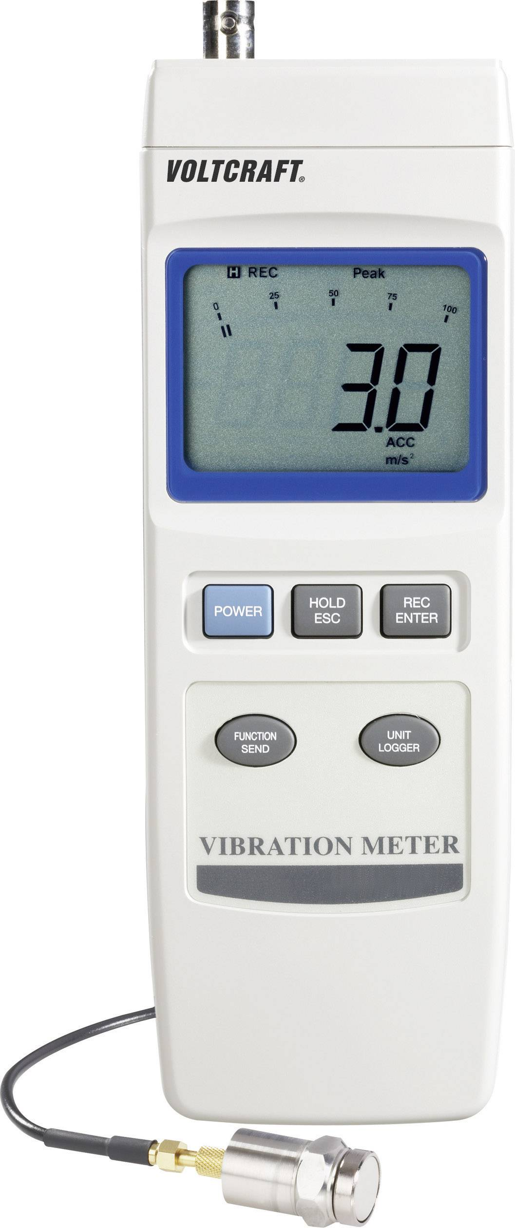 Merač vibrácií VOLTCRAFT VBM-100