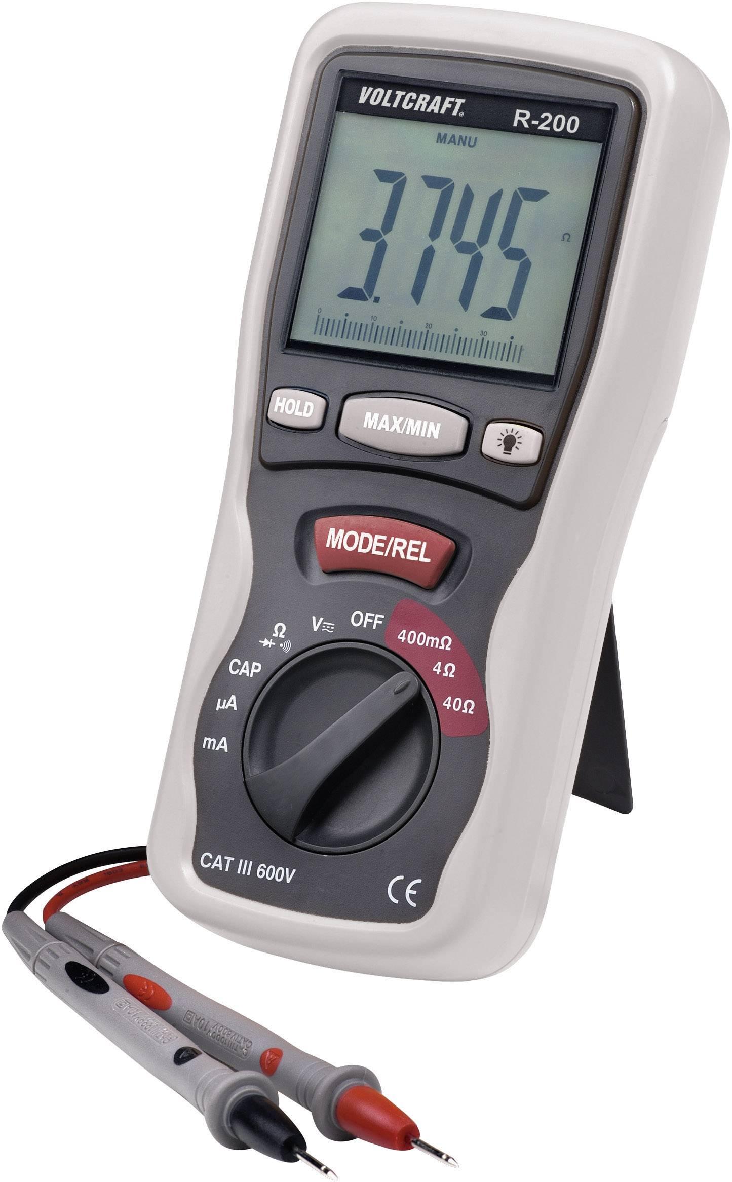 Digitálne/y skúšačka elektronických komponentov VOLTCRAFT R- 200 R-200