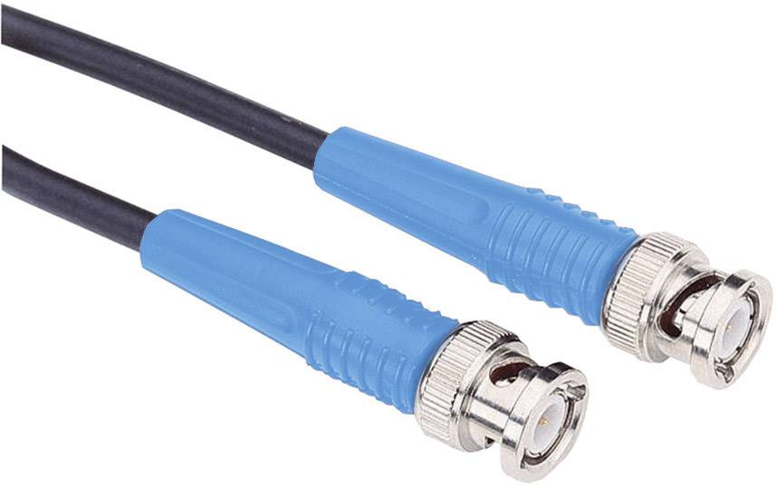 Měřicí kabel BNC Testec 81003 RG58, 0,25 m, modrá