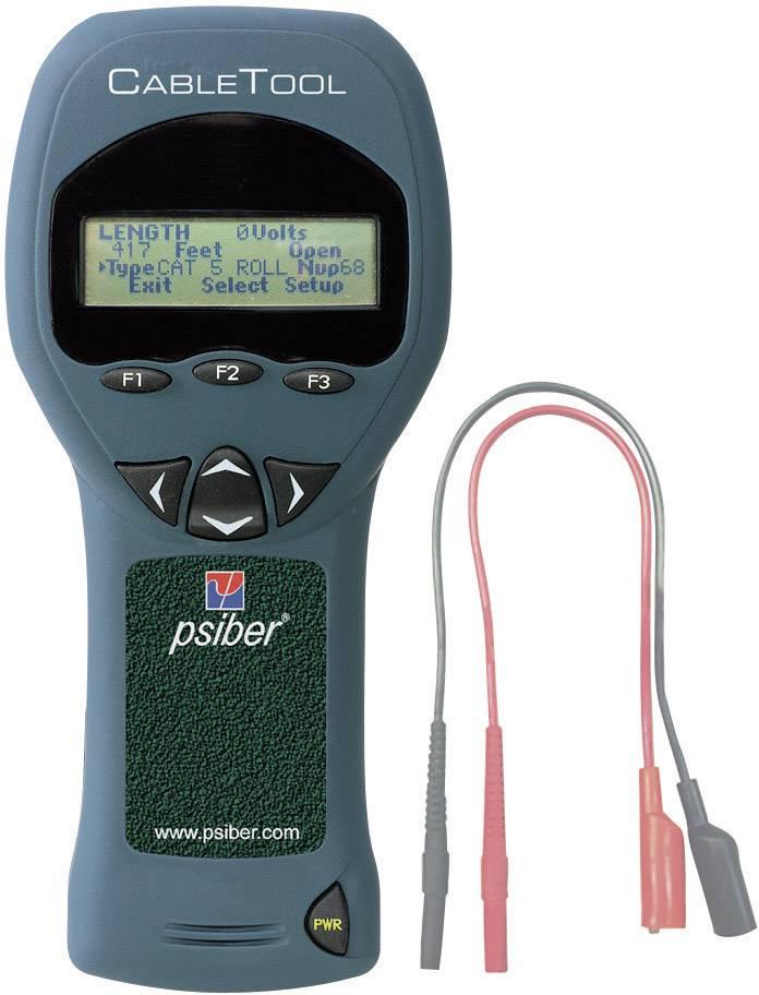 Kábeltester s TDR meraním + Cable Tracker Probe CT15 Psiber Data, 226009