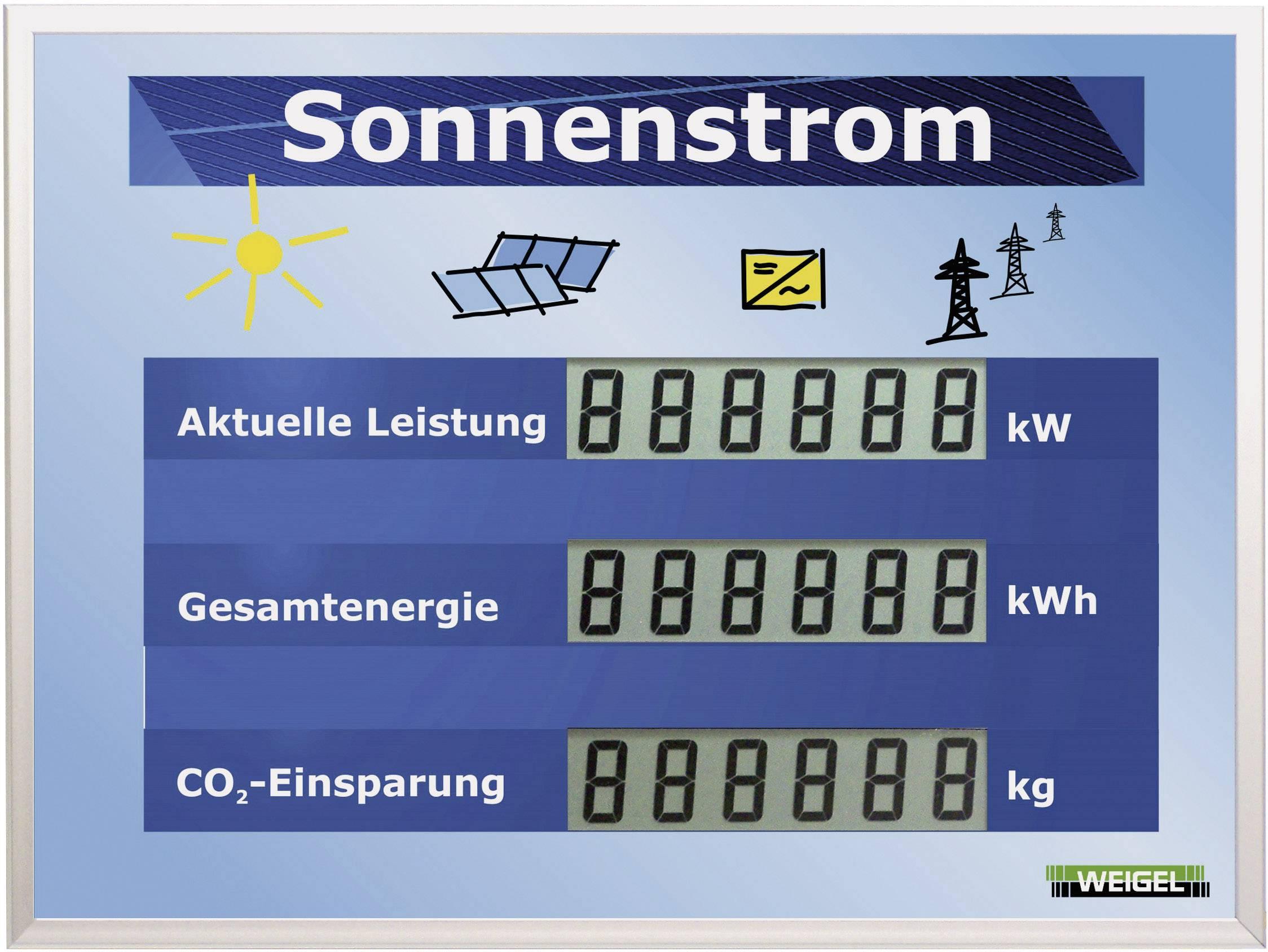 LCD displej pre fotovoltaické systémy Weigel WGA350si-19-41