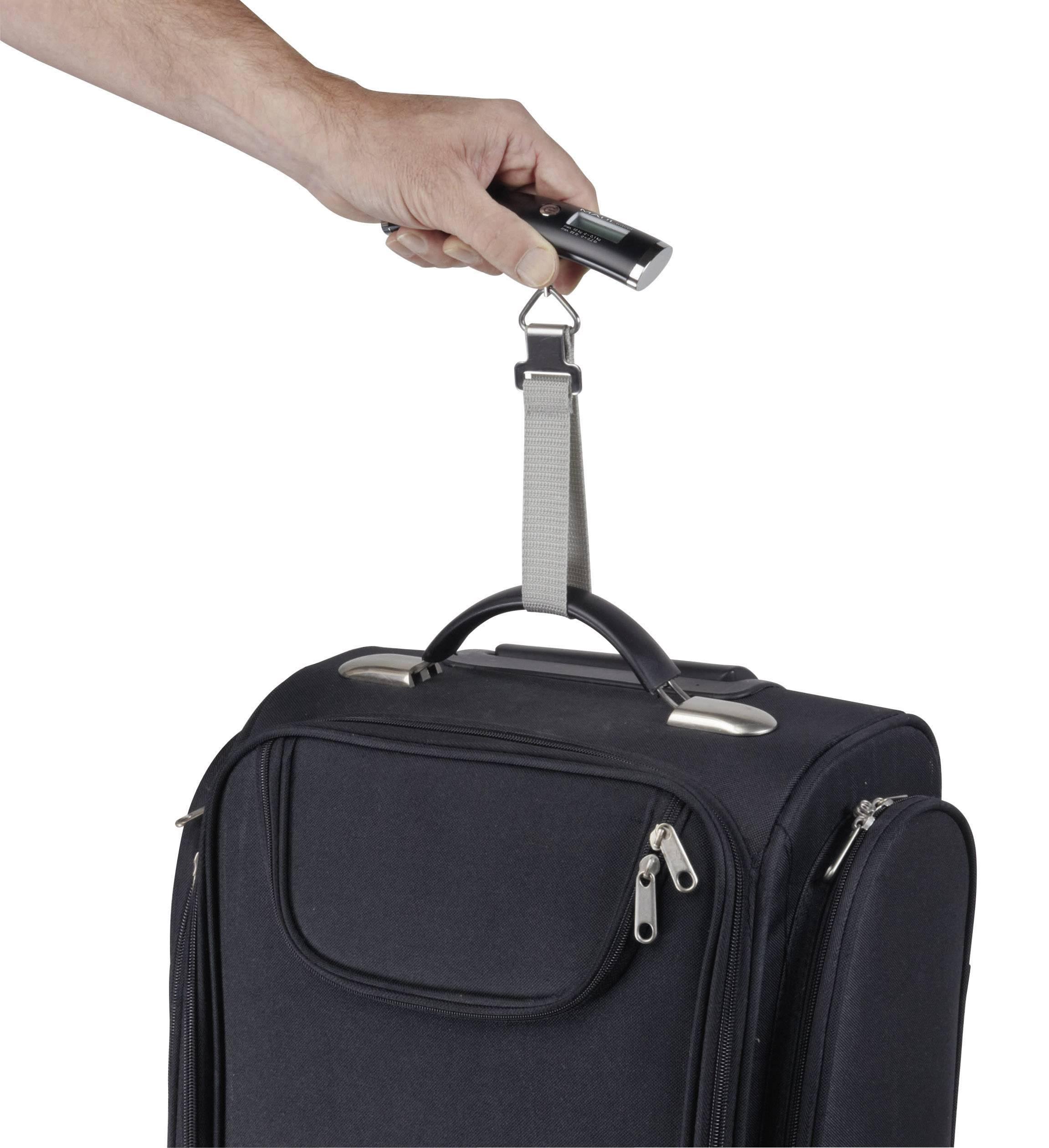 Váha na cestovnú batožinu Maul travel, max.váživosť 40 kg, presnosť 100 g, čierna