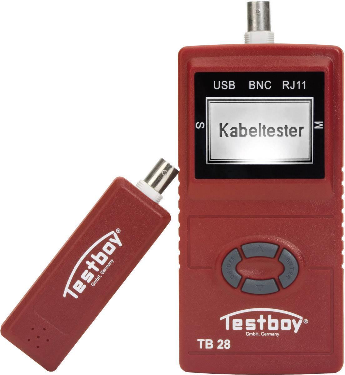 Tester káblov Testboy Testboy 28, vhodný pre USB, RJ11, RJ45, BNC káble