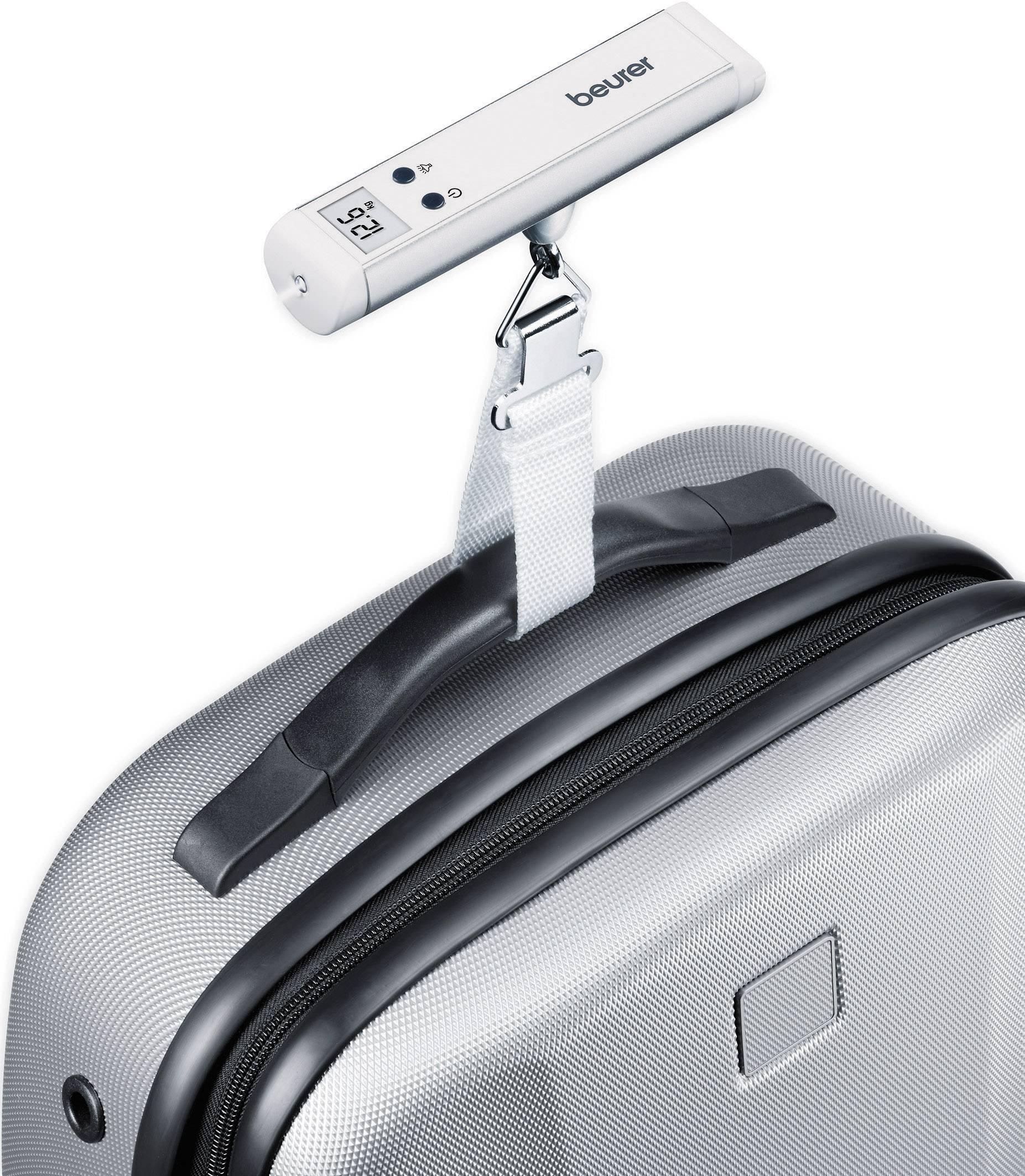 Váha na cestovnú batožinu Beurer LS-10, max.váživosť 50 kg, presnosť 50 g, strieborná