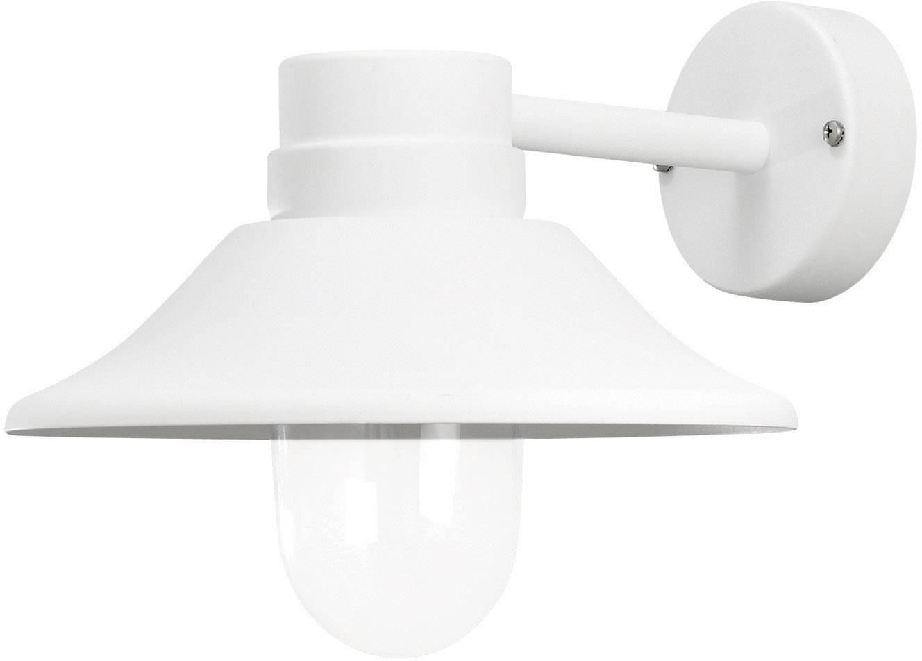 LEDvonkajšie nástennéosvetlenie 5 W teplá biela Konstsmide Vega 412-250 biela