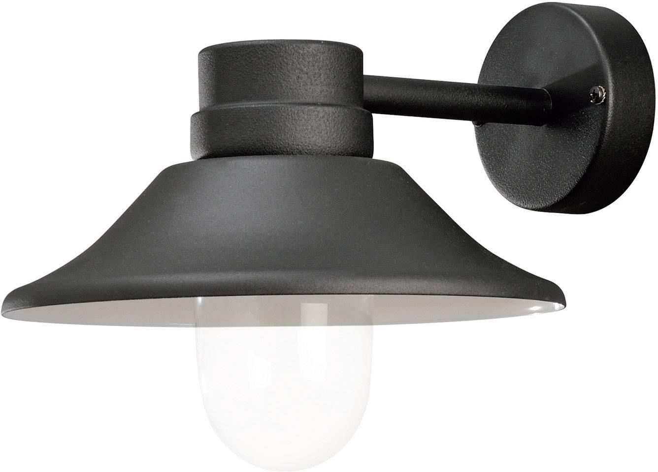 LEDvonkajšie nástennéosvetlenie 5 W teplá biela Konstsmide Vega 412-750 čierna