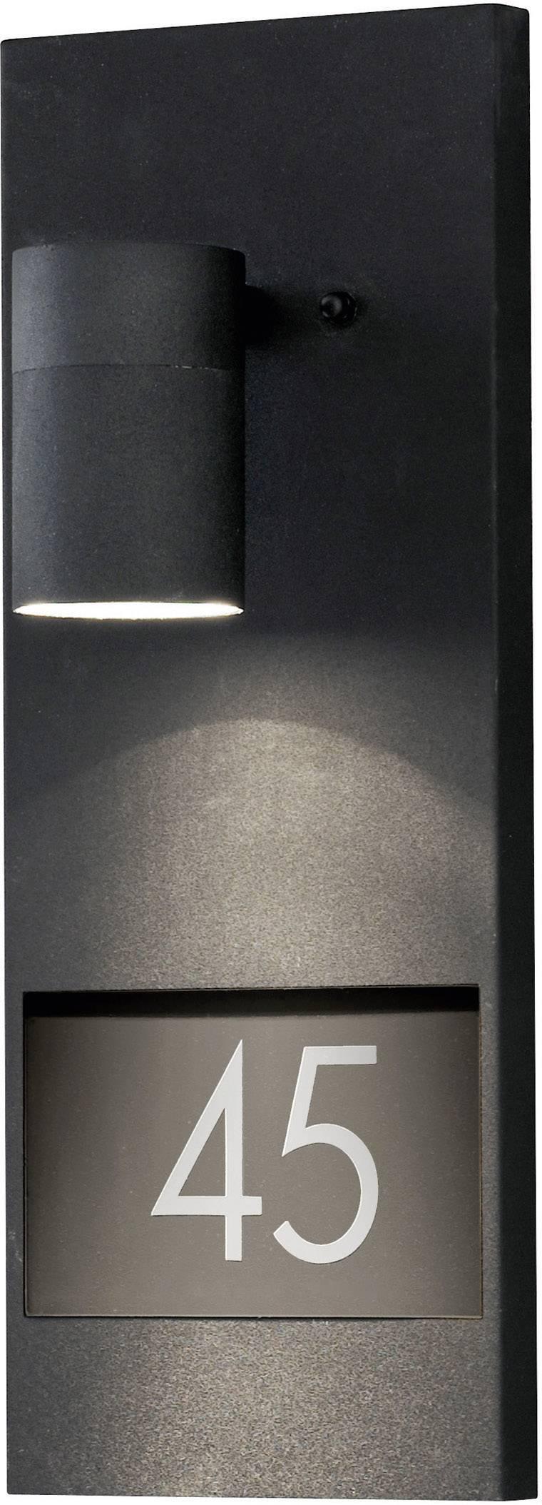 Osvetlenie čísla domu halogénová žiarovka GU10 35 W Konstsmide Modena 7655-750 čierna