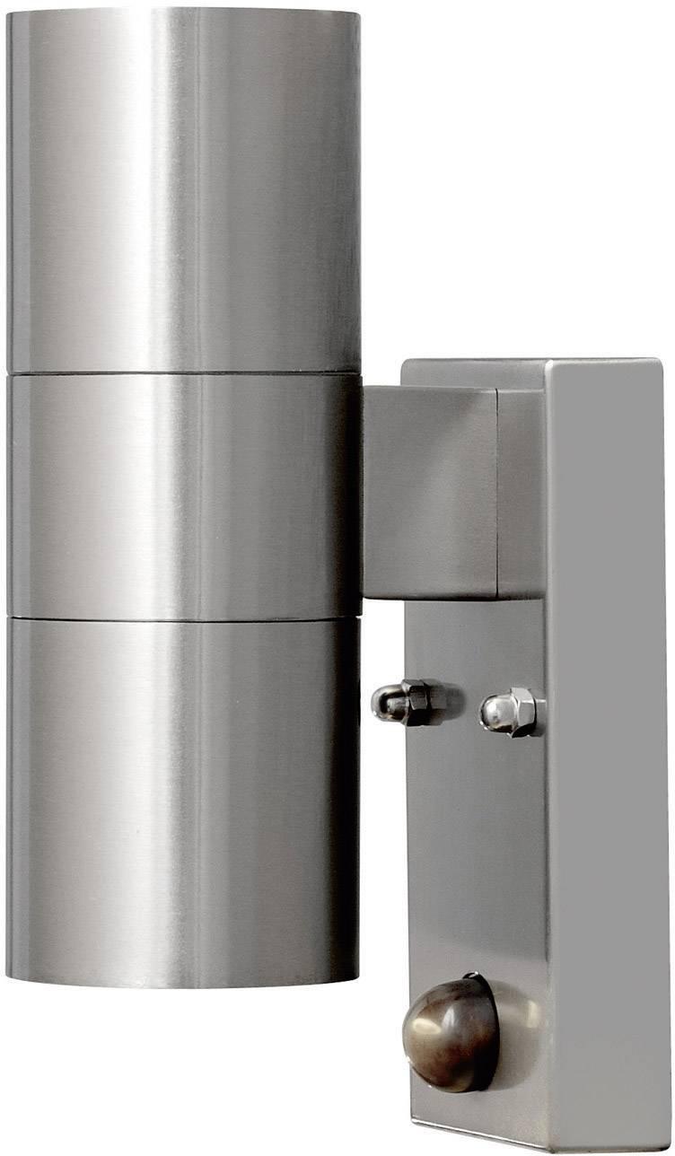 Vonkajšie nástennéosvetleniesPIR senzorom halogénová žiarovka GU10 70 W Konstsmide Modena 7542-000 nerezová oceľ
