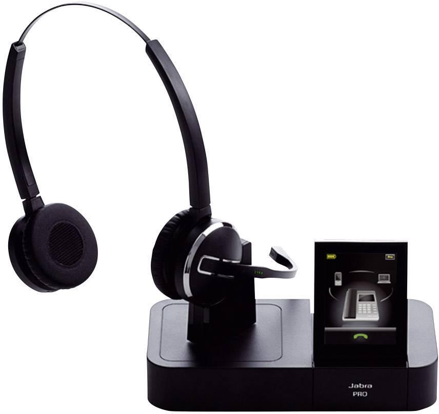 Telefonní headset DECT bez kabelu, stereo Jabra PRO™ 9460 DUO na uši černá