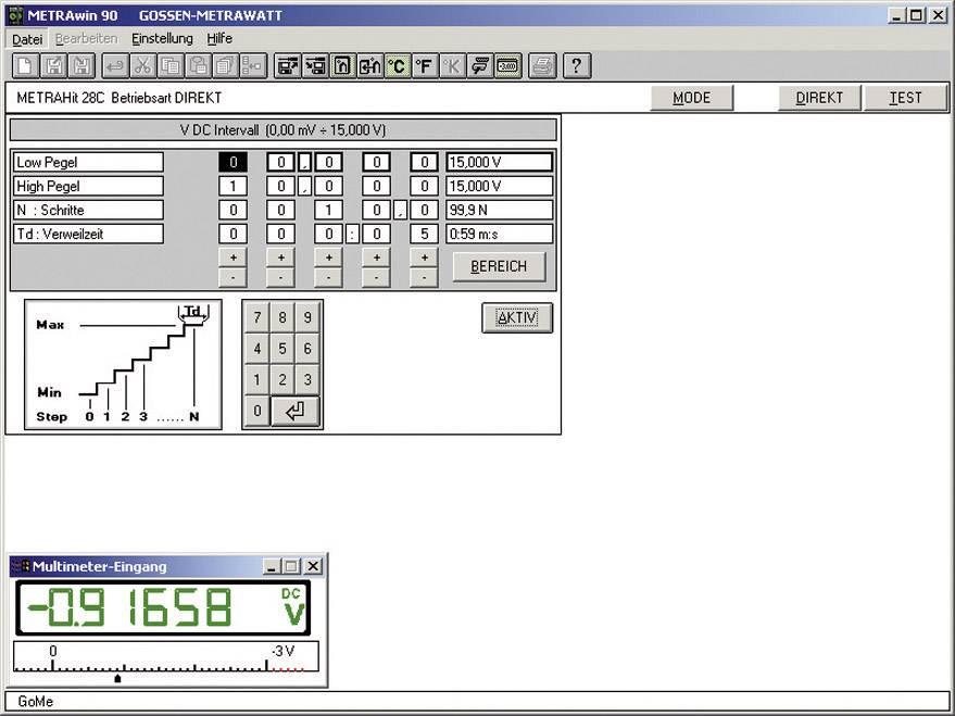 Software Gossen Metrawatt METRAWIN 90-2 pre tvorbu a správu kalibračných výsledkov