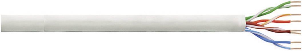 Síťový kabel F/UTP Cat 6 LogiLink CPV0021, nestíněný, 100 m, šedá