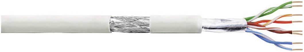 Síťový kabel F/UTP Cat 5e LogiLink CPV007, stíněný, 100 m, šedá