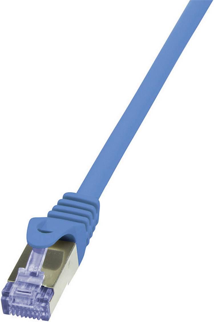 Patch kabel LogiLink CAT6A S/FTP, modrá, 10 m