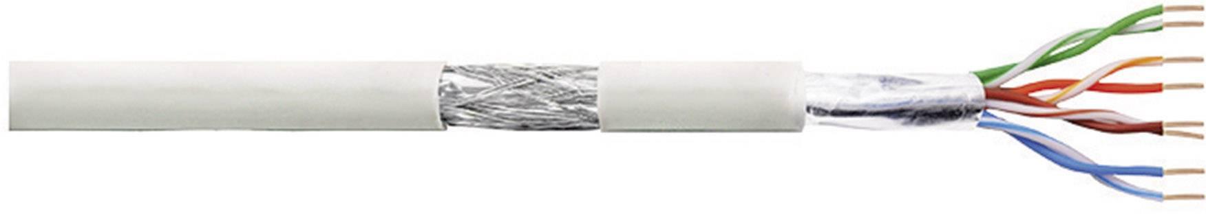 Síťový kabel F/UTP Cat 5e LogiLink CPV0018, stíněný, 305 m, šedá