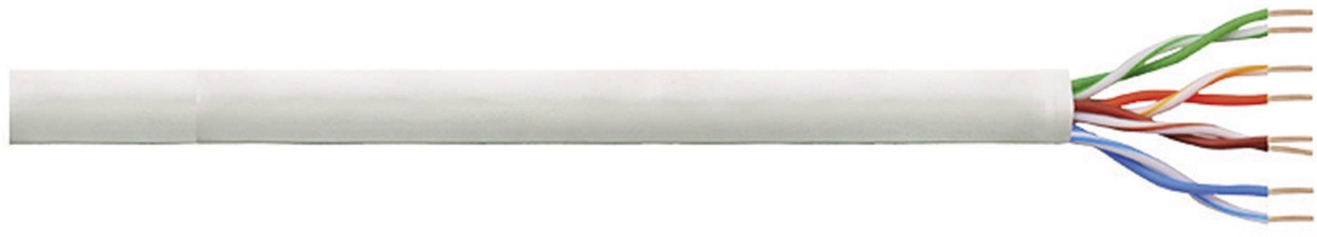 Síťový kabel F/UTP Cat 5e LogiLink CPV0015, nestíněný, 305 m, šedá