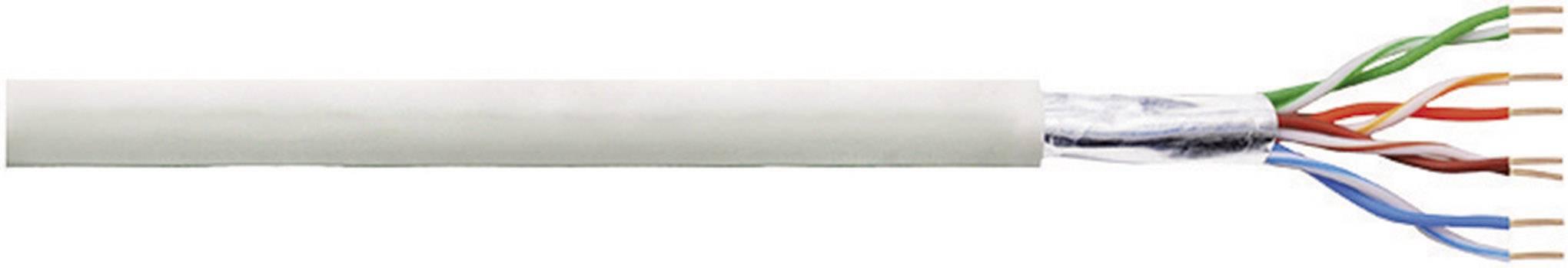 Síťový kabel F/UTP Cat 5e LogiLink CPV0029, stíněný, 50 m, šedá